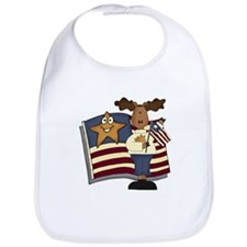 Patriotic Moose Bib