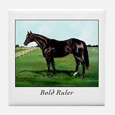 "Thoroughbred ""Bold Ruler"" Tile Coaster"