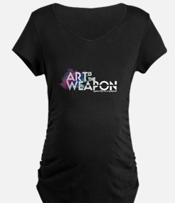 'Art is the Weapon' Maternity T-Shirt