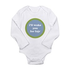 Fajr LongSleeve Infant Bodysuit (light blue+green)