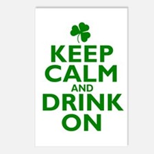 Keep Calm and drink on Irish Postcards (Package of