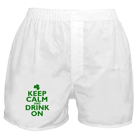 Keep Calm and drink on Irish Boxer Shorts