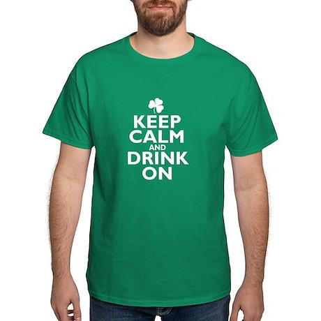 Keep Calm and drink on Irish Dark T-Shirt