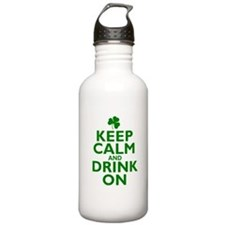Keep Calm and drink on Irish Water Bottle