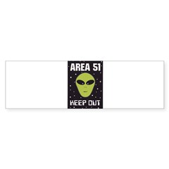 Area 51 Keep Out Bumper Sticker