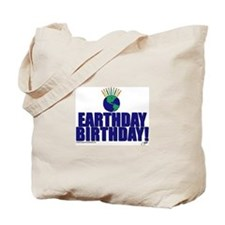 Cute Earth day birthday Tote Bag