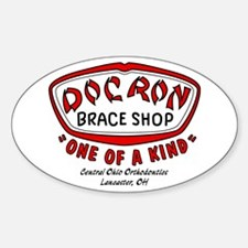 Doc Ron's Braceshop Oval Decal