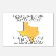 Got here fast! Texas Postcards (Package of 8)