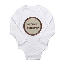Believer Long Sleeve Infant Bodysuit (khaki+brown)