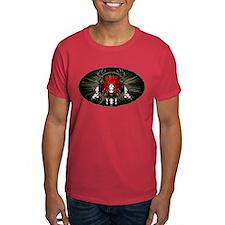 European skull mount,red T-Shirt