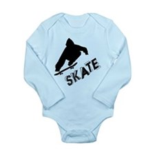 Skate Ollie Sillhouette Long Sleeve Infant Bodysui