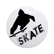 Skate Ollie Sillhouette Ornament (Round)