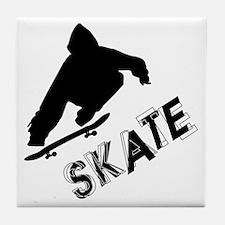 Skate Ollie Sillhouette Tile Coaster