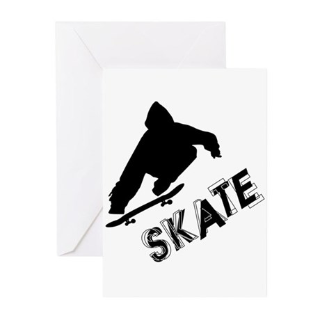 Skate Ollie Sillhouette Greeting Cards (Pk of 10)