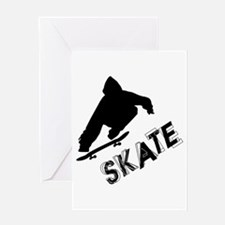 Skate Ollie Sillhouette Greeting Card