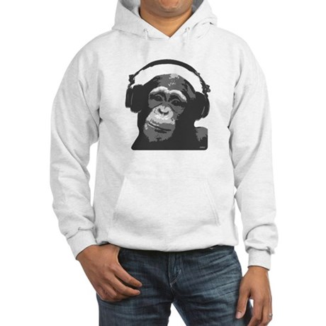 DJ MONKEY grey Hooded Sweatshirt
