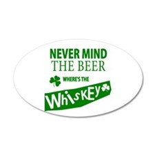 St Patricks Wheres the Whisky 38.5 x 24.5 Oval Wal