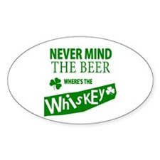St Patricks Wheres the Whisky Decal