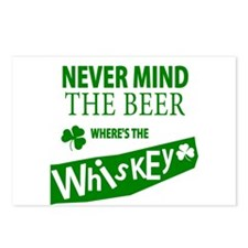 St Patricks Wheres the Whisky Postcards (Package o