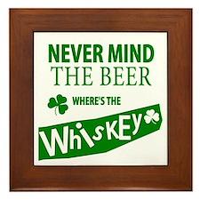 St Patricks Wheres the Whisky Framed Tile