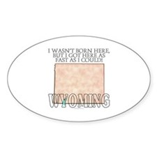 Got here fast! Wyoming Decal