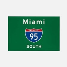 Miami 95 Rectangle Magnet