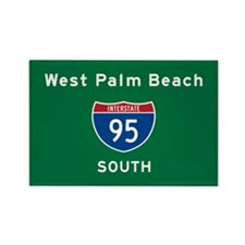 West Palm Beach 95 Rectangle Magnet