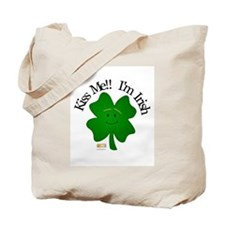 4 Leaf- Kiss me!! I'm Irish Tote Bag