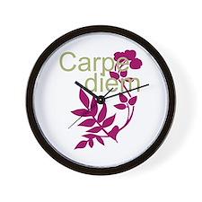 Cool Carpe diem Wall Clock