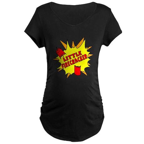 Little Firecracker Maternity Dark T-Shirt