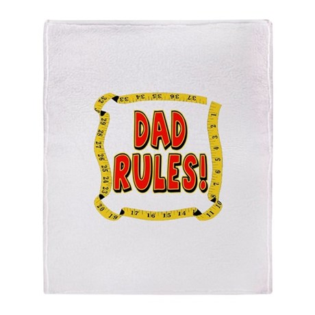 Dad Rules Throw Blanket