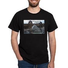 Renoir The Louvre & Nature Black T-Shirt