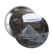 Renoir The Louvre & Nature Button