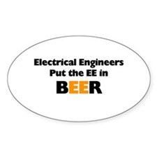 EE in BEER Decal