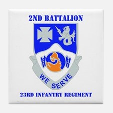 DUI - 2nd Bn - 23rd Infantry Regt with Text Tile C