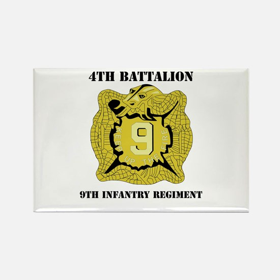 DUI - 4th Bn - 9th Infantry Regt with Text Rectang