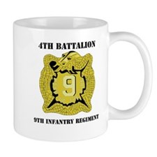 DUI - 4th Bn - 9th Infantry Regt with Text Mug