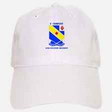 DUI - F Company - 52nd Infantry Regt with Text Baseball Baseball Cap