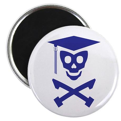 """Grad Class Skully 2.25"""" Magnet (10 pack)"""