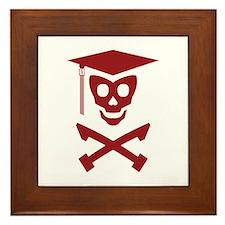 Grad Class Skully Framed Tile