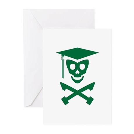 Grad Class Skully Greeting Cards (Pk of 10)