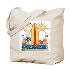Boy at Beach Tote Bag