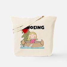 Stick Girl Loves Canoeing Tote Bag