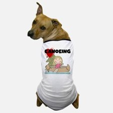 Stick Girl Loves Canoeing Dog T-Shirt