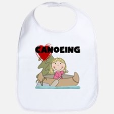 Stick Girl Loves Canoeing Bib