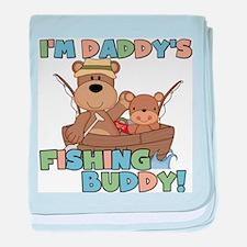Bears Daddy's Fishing Buddy baby blanket