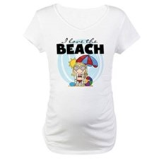 Blond Girl Love the Beach Shirt