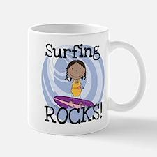 AA Girl Surfing Rocks Small Small Mug