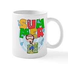 Boy Snorkeling Summer Mug
