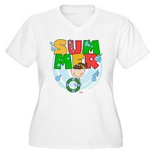 Brunette Girl SUMMER T-Shirt